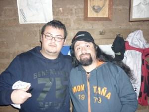 Christian Quezada (Revista Insomnia) junto a Toño (Chancho en Piedra)